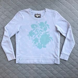 Anthropologie Pure + Good Dyed Floral Sweatshirt
